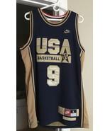 MICHAEL JORDAN NIKE USA OLYMPICS GOLD JERSEY MENS ADULT LARGE - $188.05