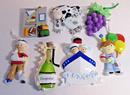7 Christmas Ornaments to Personalize 4 the Cruise & Wine Lover, Grandson... - $35.10