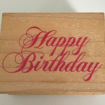 All Night Media Rubber Stamp Happy Birthday Greeting Card Making Craft Art 577E - $5.40