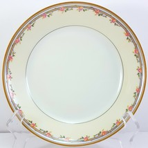 "Haviland & Co Schleiger 298a Coupe Soup Bowl White Cream Pink Roses 7.5"" Limoges - $18.81"