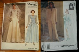 VOGUE Wedding Sewing Pattern Dress Pants Skirt Jacket Top sizes 10 12 14... - $26.00