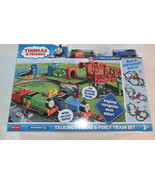 Thomas And Friends Talking Thomas And Percy Train Set 35+ Piece Play Set - $69.84