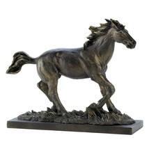 Horse Sculpture Decor, Modern Stallion Bronze Race Horse Statue Art Tabl... - $31.99