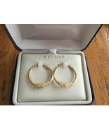 GORGEOUS! 10K SOLID GOLD HEART Hoop Post Earrings - $84.24