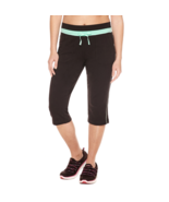 Made For Life Knit Workout Capris Size PS Black/Green New - $17.99