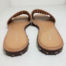 Marc Fisher Jeremy Flat Tan Open Toe Sandals Sz 8 1/2 - $37.61