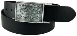 Levi's Men's Stylish Premium Genuine Leather Belt Black 11LV0253 image 1