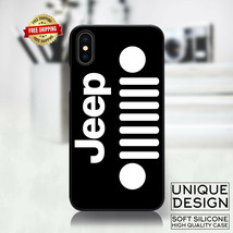 Black Jeep Grill  Phone Case Samsung Galaxy S10 S9 Huawei iPhone Case Gi... - £8.26 GBP