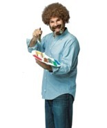 Rasta Imposta Bob Ross Maler Palette Set Erwachsene Herren Halloween Kostüm - £25.26 GBP