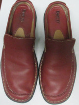 Born Vintage Red Leather Clogs Loafers Flats 8M/W 8 - $59.40