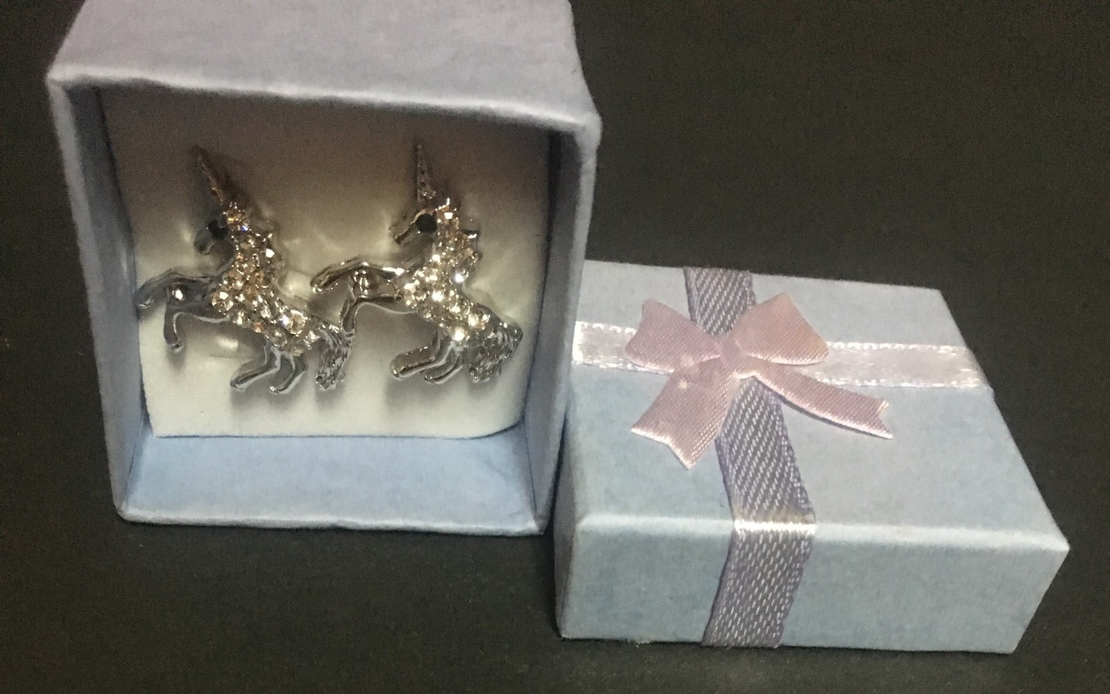 Crystal Avenue Unicorn Post Earrings