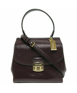 NWT Coach Small Patent Crossgrain Leather Avary Crossbody Bag Oxblood F37833  - $139.99