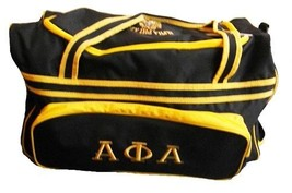 Alpha Phi Alpha Fraternity Luggage bag with Wheels Handle extension Duff... - $88.20