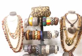 Large Safari Jungle Inspired Jewelry 10lb Lot Necklace Bracelet Earrings Clutch image 2
