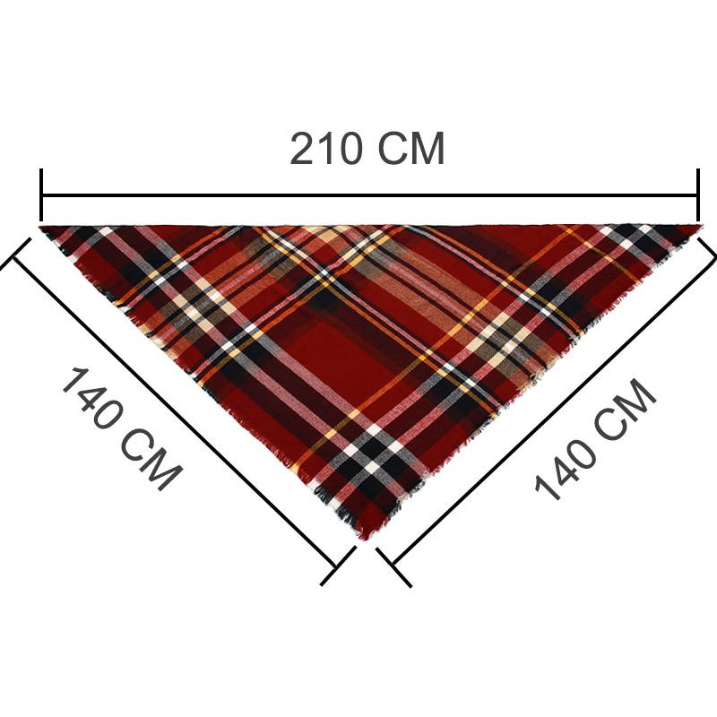 2017 New Fashion Winter Scarf For Women Scarf Luxury Brand Triangle Plaid Warm C image 6