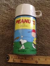 Vintage Peanuts  by shulz  thermos half pint  - $36.00