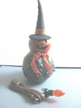 Witch Figure Genuine Meadowbrooke Knobby Gourd  Artist made  Halloween - $35.59