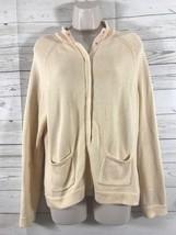 Talbots Womens Petites Cardigan Sweater Size Medium Light Peach Pima Cotton - $19.56 CAD
