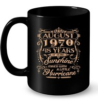August 1970 48 Years OF Being Sunshine Mixed with a Little Gift Coffee Mug - $13.99+