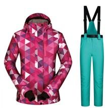 Ski Suit Women Set Windproof Waterproof Warmth Clothes Jacket Ski Pants ... - $113.13