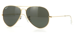 Ray Ban Aviator RB3025 001/58 55m Sunglasses Gold With Polarized G15 Green Lens - $78.90