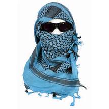 Blue & Black Shemagh Tactical Desert Keffiyeh Arab Heavyweight Scarf - £8.60 GBP