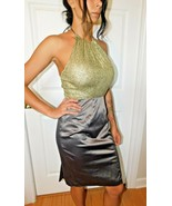 BLACK HALO SEQUIN HALTER DRESS SIZE 6 GUC - $79.19