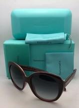 Nuovo Tiffany & Co.Occhiali da Sole Tf 4115 8205/3c Burgundy & Oro Frame... - $249.50