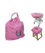 Floppy Seat Deluxe Shopping Cart and High Chair Cover with Carry Bag Pink Floral - $47.49