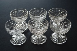 6 Anchor Hocking Waterford Waffle Sherbet Cups - $14.85