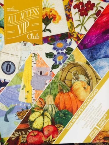 SEPTEMBER 2015 Anita Goodesign Embroidery CD Designs ALL ACCESS BOOK AND CD