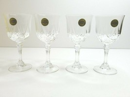 "4 Arc Cristal D'arques 6"" Long Champ 24% Lead Crystal Classy Wine Glasses France - $35.61"