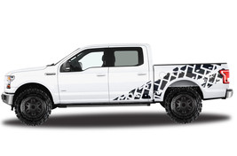 Vinyl Decal Wrap TIRE TRACKS for Ford F-150 15-17 SuperCrew 5.5 Bed Truc... - $93.46