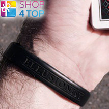 ELLUSIONIST PLAYING CARDS SILICONE WRISTBAND BLACK ACCESSORY NEW - $8.11