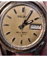 Seiko Bell-Matic 17j  4006-7019 Circa 1972 Day/Date Japan Mvmt Serviced ... - $199.00