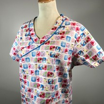 Dickies M Womens Scrub Top Winter Size Medium Nurse Hospital Lab Dentist  - $13.09