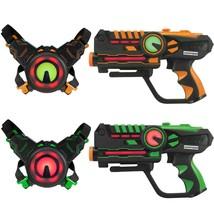 Armogear Infrared Laser Tag Guns and Vests - Laser Battle Game - Pack Se... - $88.50