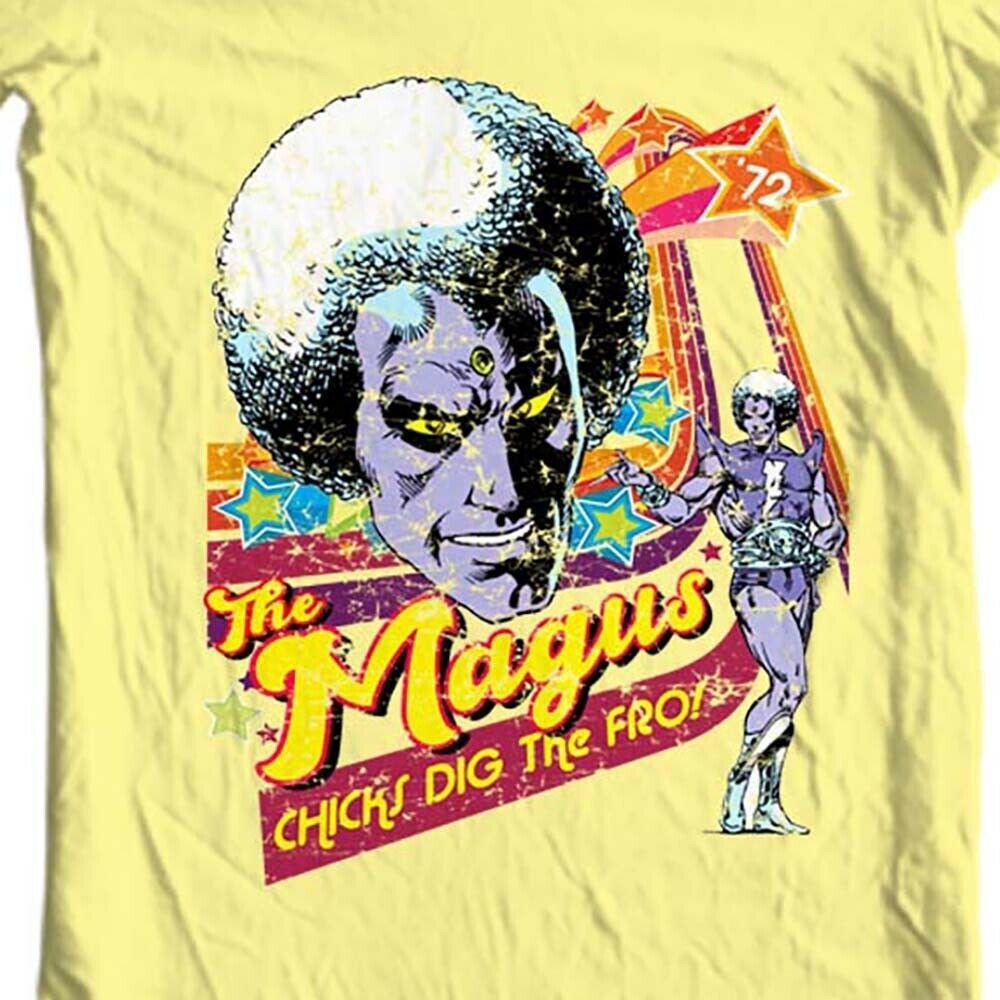 The Magus 1970s T shirt retro Adam Warlock silver age Marvel comics graphic tee