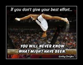 Gabby Douglas Inspirational Gymnastics Quote Wall Art Gift Motivation Po... - $19.99+