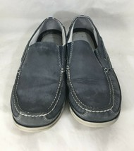 G.H. Bass Starboard Deck Shoes Blue Leather Mens 10M Loafers Slip Ons Boat - $28.71