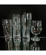 4 LENOX TUSCANY CLASSICS Crystal Assorted Craft Beer Glasses Signed & w ... - $30.86