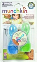 Munchkin Baby Food Pouch Spoon Tips Set of 2 Brand New BPA Free 4+ Month... - $9.95
