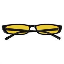 Fino Rectangular Sunglasses Hombre Mujer Moda Color Tono Flaco Marco Sunglasses - $11.46