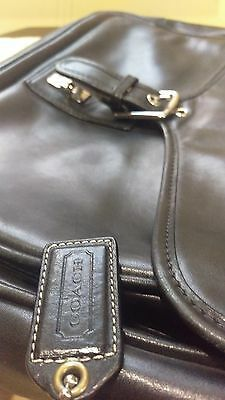 COACH black Leather  Briefcase Messenger Bag