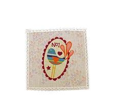 Panda Superstore 4 Pieces Lovely Creative Anti-Scald Cotton&Linen Coasters - $15.39