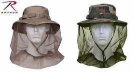 Boonie Hat w/ Mosquito Netting - Woodland Camo and Khaki - $15.99