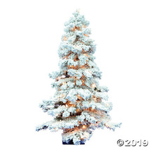 Vickerman 4' Flocked Spruce Christmas Tree with Clear Lights - $162.75