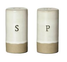 Hearth & Hand Magnolia Stoneware Salt & Pepper Shakers 2 Pc Set in Cream... - $23.75