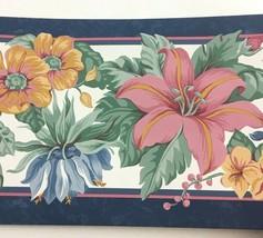 Sunworthy Flower Wallpaper Border Multicolor Floral Garden Cottage 5 Yar... - $9.83