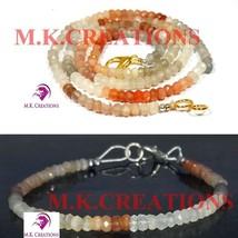 "Natural Multi moonstone 3-4mm Beads Beaded 36"" Necklace 7"" Bracelet Jewelry Set - $30.97"